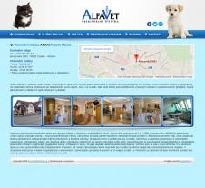 Tvorba webových stránek pro veterinární kliniku AlfaVet Frýdek-Místek