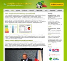 Wevocé stránky pro energetický průkaz Morava
