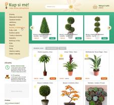 Grafický návrh e-shopu pro online zahradnictví Ostrava