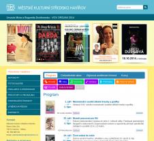Tvorba webových stránek pro Městské kulturní středisko Havířov