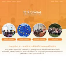 Tvorba webových stránek pro firmu Petr Otáhal, s.r.o.