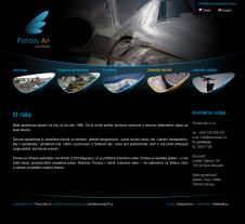 Grafický návrh webových stránek pro firmu Pondus Air s.r.o. Karviná